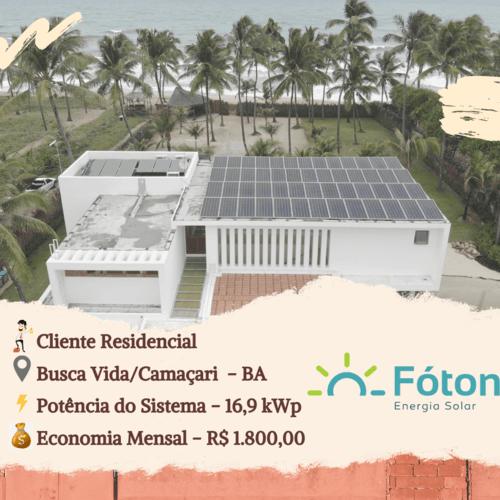 Gerador Solar Fóton - Residencial