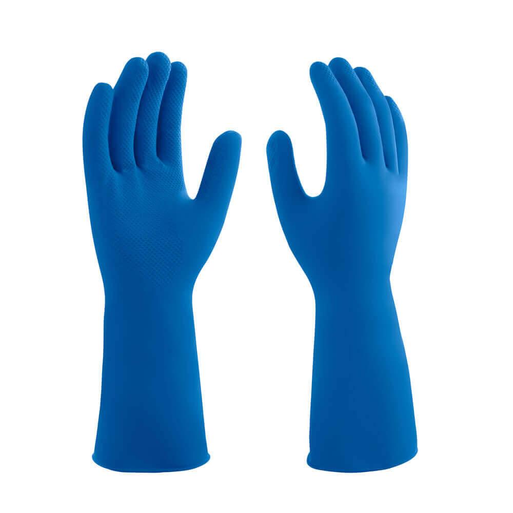 Luva mucambo azul lisa (G) par